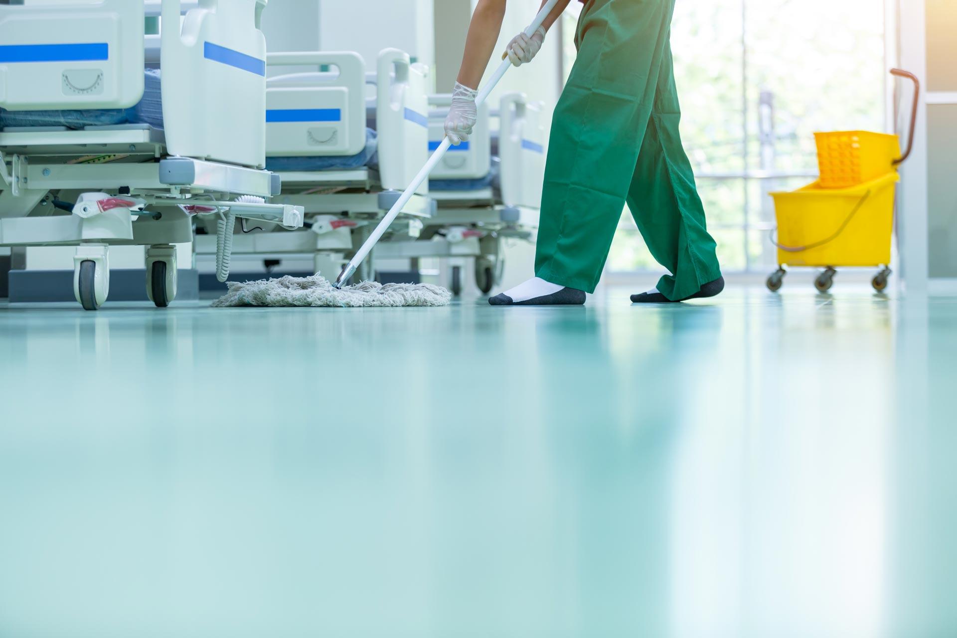 Reinigung im Hygiene- und Gesundheitswesen